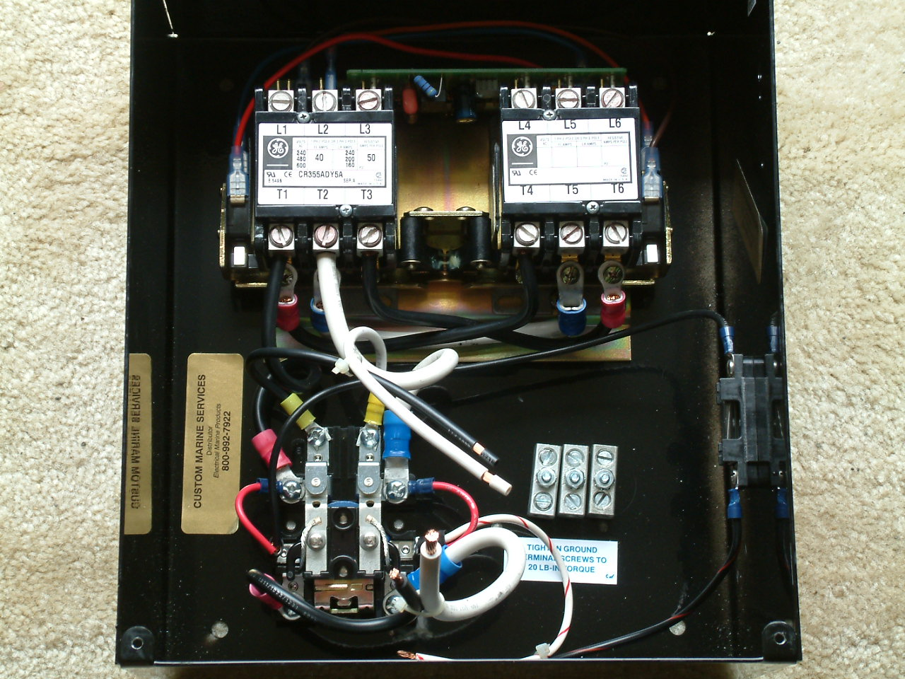 Custom Marine Services Quick Source Todd Engineering Automatic 120vac Wiring Click To Enlarge